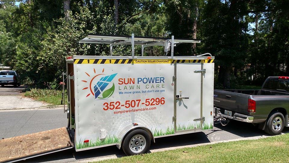 840 Watt landscape solar trailer