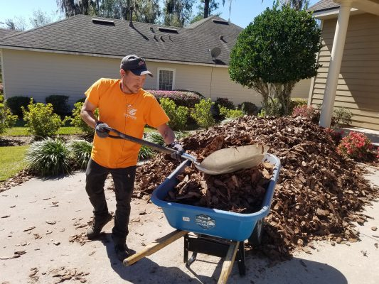 mulch spreading service gainesville fl