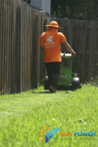 electric lawn mowing is quiet