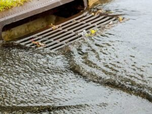 clear out storm drains